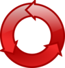 Red Cycle Icon Clip Art