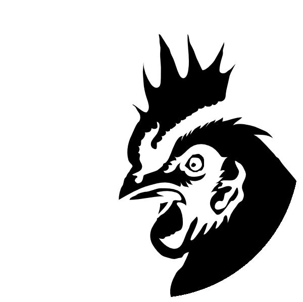 Chicken Profile Black Silhouette Clip Art at Clker.com ...