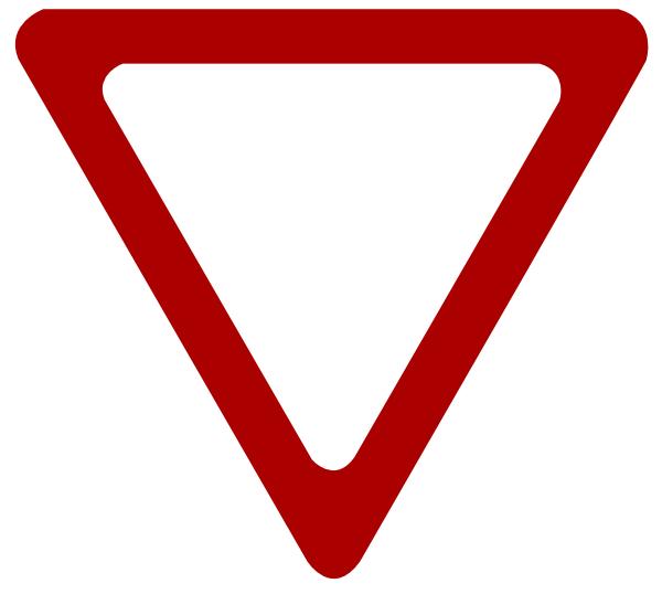 blank yield sign clip art at clkercom vector clip art