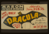 Dracula  By Hamilton Deane And John L. Dalderston [i.e. Balderston] Two Weeks Only. Clip Art