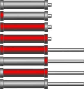 Hydraulic Cylinders Red Clip Art