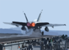An F/a-18 Hornet Launches From One Of Four Steam Powered Catapults Aboard Uss Enterprise (cvn 65) Clip Art