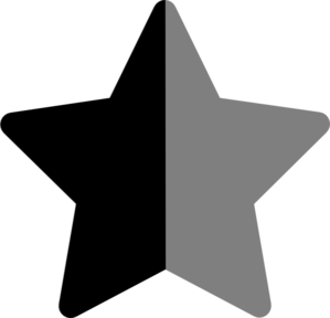 Star Bkacj And Grey Clip Art
