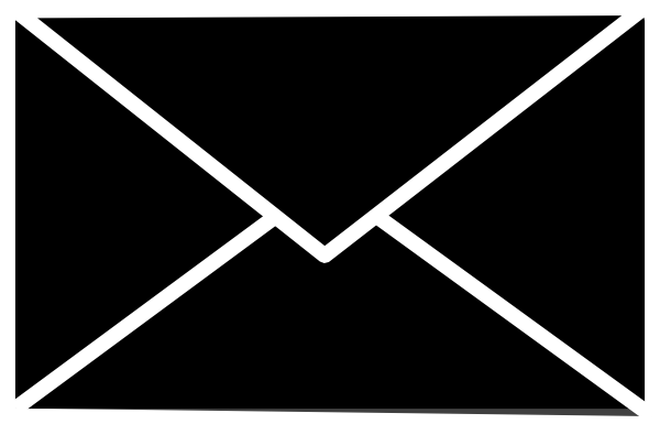 mail icon white on clear clip art at clkercom vector