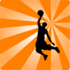 Basketball Orange Silhouette Clip Art