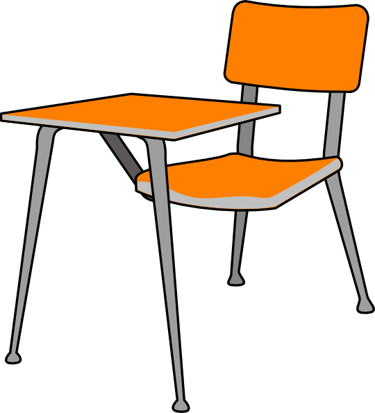 Student desk clip art at vector clip art online royalty free public domain - Stuhl transparent ...