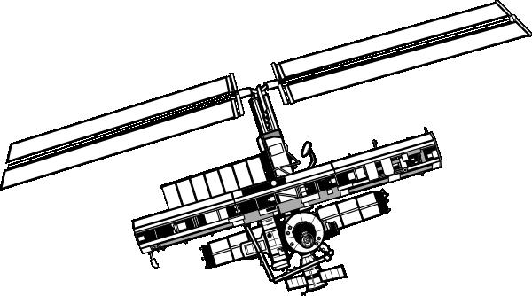 satellite space 1 clip art at clker  vector clip art