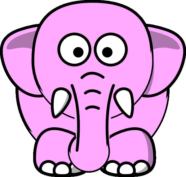 pink elephant clip art at clker com vector clip art Baby Giraffe Clip Art Baby Animal Clip Art