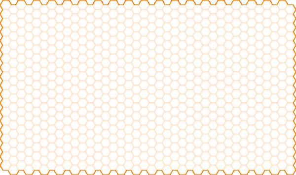hexagon cells grid - orange clip art at clker com