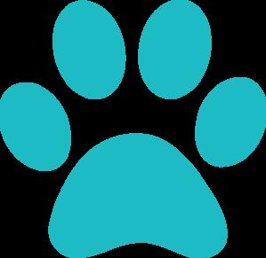 teal paw print clip art at clker com vector clip art paw print vector logo paw print vector image