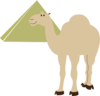 Camel With Pyramid Clip Art