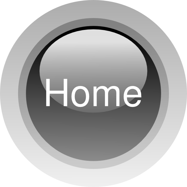 Transparent Home Icon Png - Home Button Icon Black, Png