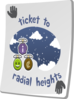 Paradise Ticket Radial Heights Clip Art