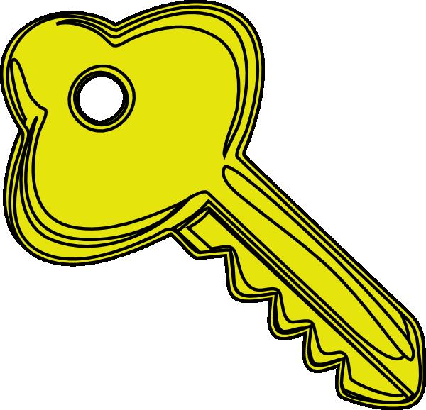 Yellow Key Clip Art at Clker.com - vector clip art online ...