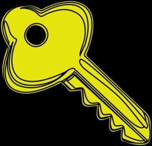 Yellow Key Clip Art At Clker Com Vector Clip Art Online