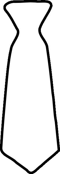 plain white tie clip art at clkercom vector clip art