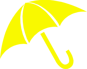 Yellow Umbrella Clip Art