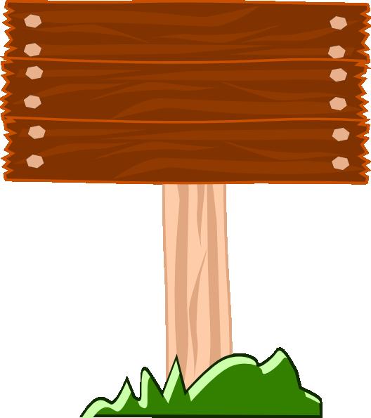Cartoon Wood Board ~ Wood street sign clip art at clker vector