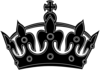 Black Keep Calm Crown -- Border 2 Clip Art