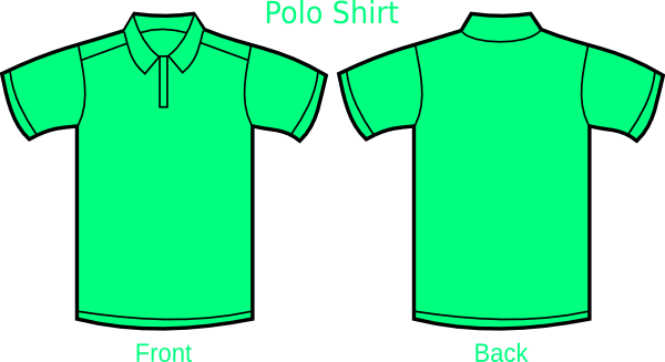 Mint Green Polo Shirt Clip Art At Clker Com