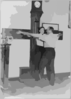 [new York City Police Dept. Activities: Taking Bertillon Measurements--armspan] Clip Art