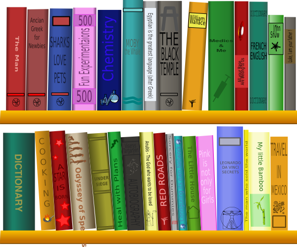 Books On Shelf Clip Art At Vector Clip Art