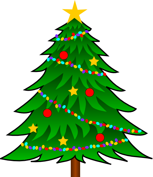 Christmas Tree Decorating Clipart