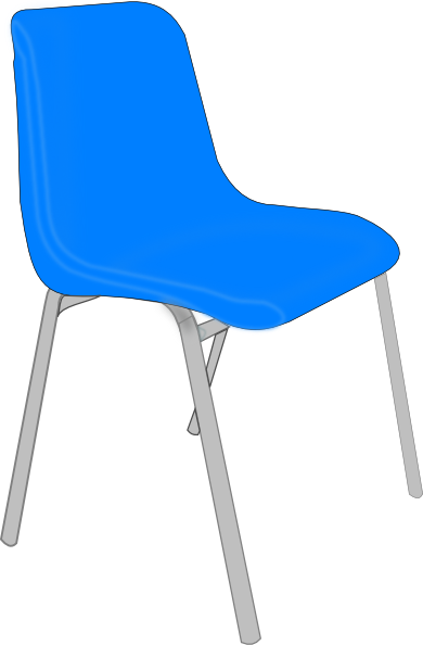 classroom blue chair clip art at vector clip art online royalty free public domain. Black Bedroom Furniture Sets. Home Design Ideas