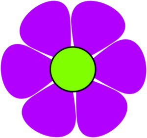 Flower Power Purple Clip Art at Clker.com - vector clip ...