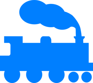 Blue Train Silhouette Clip Art