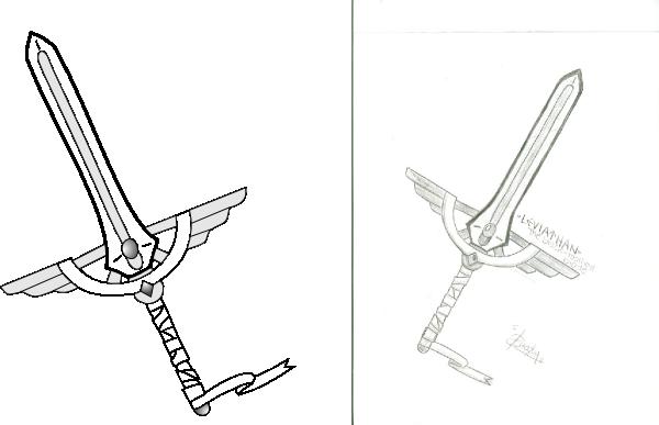 sword outline clip art at clkercom vector clip art
