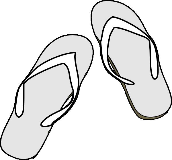Flip Flops Black White Clip Art At Clker Com Vector Clip