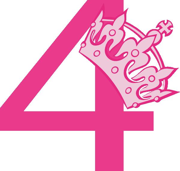 4th birthday pink tiara clip art at clker com vector clip art online  royalty free   public domain hat vector latex hat vector ai