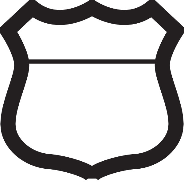 blank highway sign clip art at clker com vector clip art route 66 clip art free route 66 clipart without border