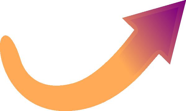 Orange-purple Arrow Clip Art at Clker.com - vector clip ...