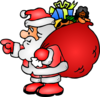 Santa Claus With His Bag Clip Art