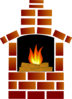 Brick Oven With Firewood And Flames Clip Art
