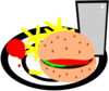 Burger And Fries Clip Art