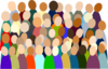 Smaller Crowd Rdc Color Clip Art