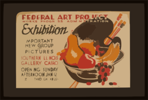 Federal Art Project Works Progress Administration Exhibition Important New Group Of Pictures. Clip Art