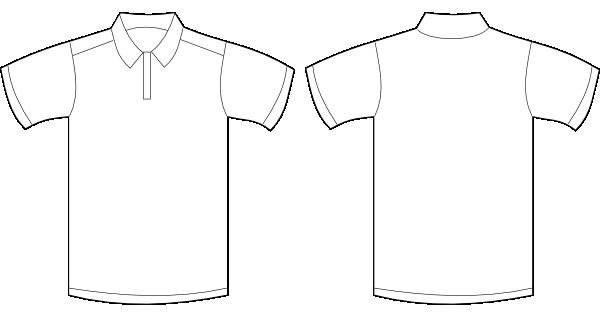 polo shirt white clip art at clkercom vector clip art