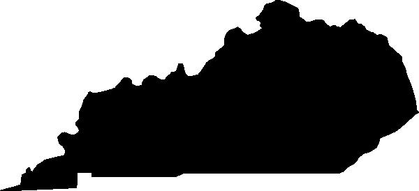 kentucky black state shape clip art at clker - vector clip art