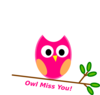 Owl Miss You Clip Art