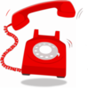 Ringing Red Telephone Clip Art