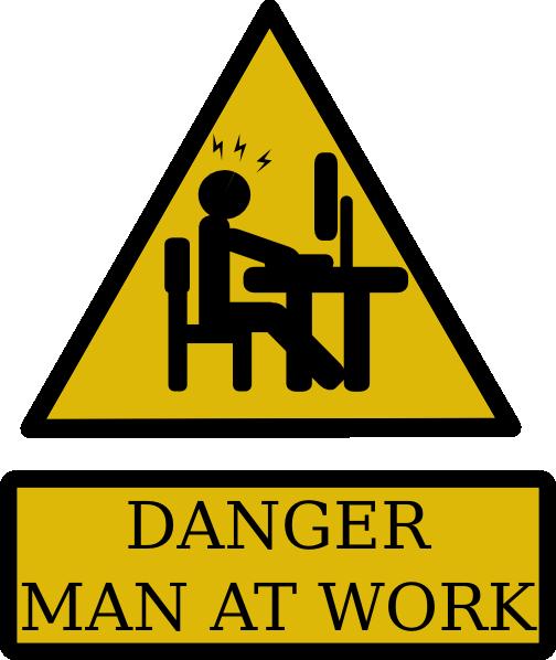 Danger Man At Work Clip Art at Clker.com - vector clip art ...