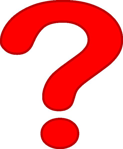 Clipart Question Mark 38 on Dark Blue Border