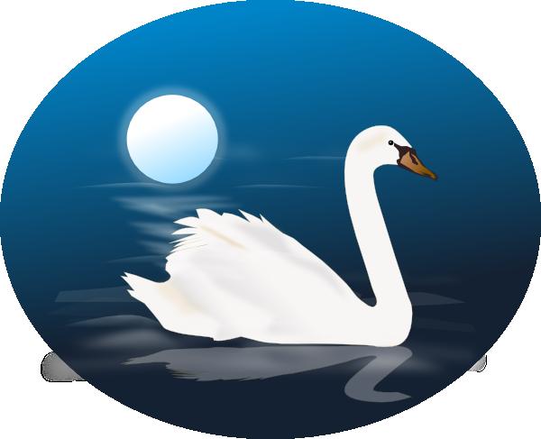 swan 4 clip art at clker - vector clip art online, royalty