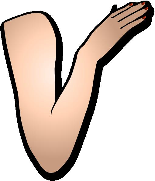 arm and hand clip art at clkercom vector clip art