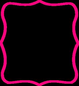Hot Pink Frame Clip Art At Clker Com Vector Clip Art