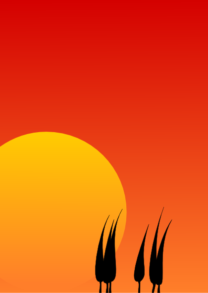 sunset background clip art at clker com